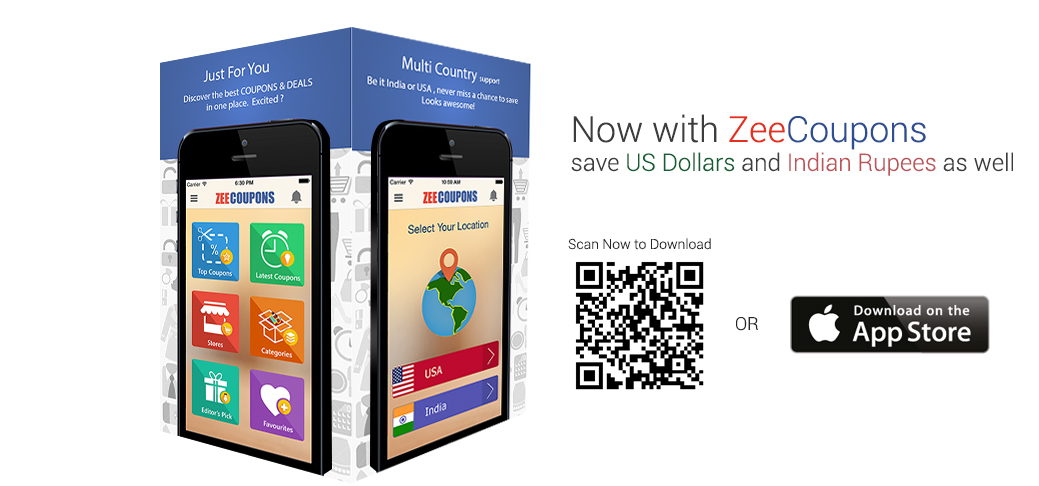 Download ZeeCoupons application for iOS , Now Save on the go