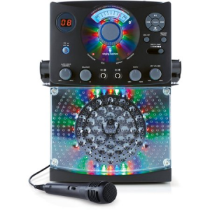 Singing Machine Bluetooth Karaoke System with LED Disco Lights and Microphone For $50 At Walmart.com