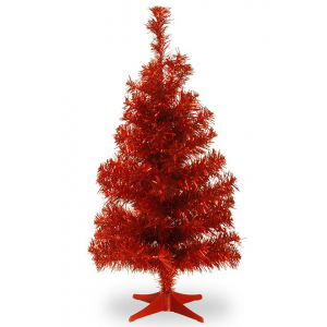Buy 3 Table Top Tinsel Tree For $21 At Homedecorators.com