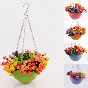 Garden Flexible Home Decoration Hanging Flower Pot Chain Planter Plastic Basket For $5.29 At Ebay.com