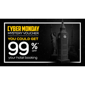 Cyber Monday Mystery Voucher You Could Get 99% Off At Hotels.com