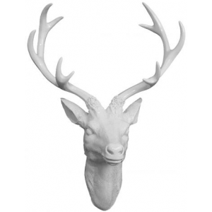 Get White Deer Head Plaque For $30 At Homedecorators.com