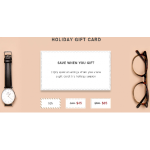 Holiday Gift Card : Save When You Give Gift Only At Eyebuydirect.com