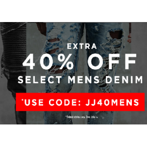 Extra 40% Off on Men's Denim At JimmyJazz.com