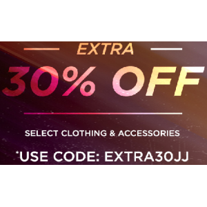 Get Extra 30% Off on Clothing & Accessories At JimmyJazz.com