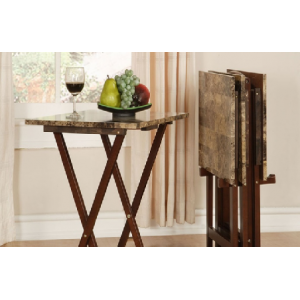 Buy Faux Marble TV Tray Table Set (5 Piece) For $63.99 At Groupon.com
