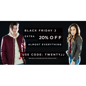 Black Friday 2 : Get Extra 20% Off on Almost Everything At JimmyJazz.com
