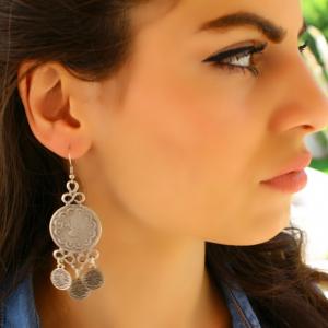 Antique Silver Dangle Drop Statement Vintage Big Metal Boho Large Long Earring For $16 At Ebay.com