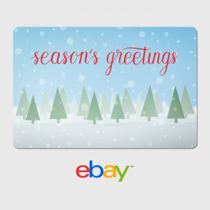 eBay Digital Gift Card : Season's Greetings  Just $25
