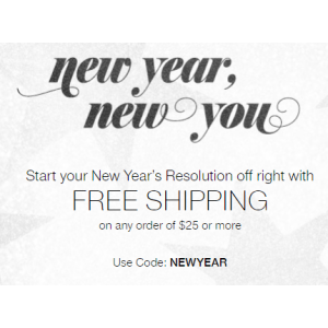 New Year New You  : Get Free Shipping on Order of $25 Or More At Avon.com