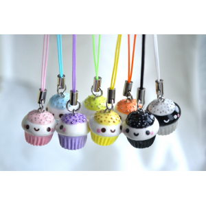 Grab Kawaii Cupcake Charm with Cellphone Strap For $6 At Ebay.com