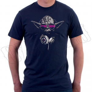 Star Wars Yoda DJ Jedi Master Hip Hop Music Headphones Mens T-Shirt For $12.49 At Ebay.com