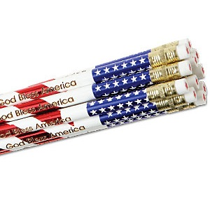 Get Flag Personalized Pencils For $9.95 At Currentlabels.com