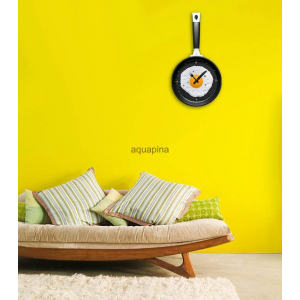 Grab Unique Egg Frying Pan Clock Cutlery Kitchen Wall Clock For $11.98 At Ebay.com