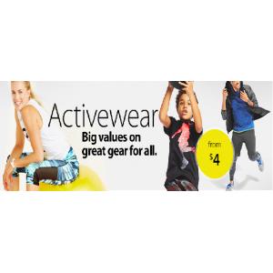 Big Values On Active Wear Starting At $4 (Walmart.com)
