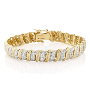 Buy 18K Yellow Gold Plated Champagne Diamond Tennis Bracelet For $29.99 At Ebay.com