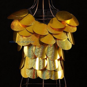 Ladies Sequin Paillette Cropped Top Vest Sleeveless Clubwear Bling For $11.69 At Ebay.com