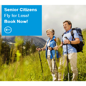 Get Up to $20 Off Senior Airfare Only At CheapOair.com