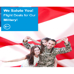Save Big on Military Airfares and Up to $40 Off At CheapOair.com