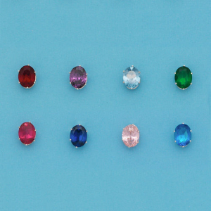 Grab Sterling Silver OVAL Color Stone Stud Earrings For $16.86 At Ebay.com