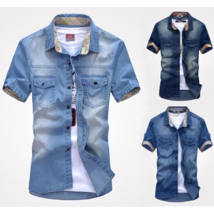 New fashion Men's Jeans Casual Slim Fit Stylish Wash Vintage Denim Shirts For $9.89 At Ebay.com