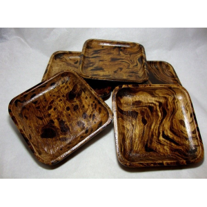 Set Of 5 PCS Coasters Mango Wooden Natural Wood Coffee Cup Saucers For $15.99 Ebay.com