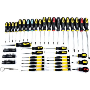 JEGS 69-pc Magnetic Screwdriver set Awls Torx Square Phillips Slotted Bits For $17.75  At ebay.com