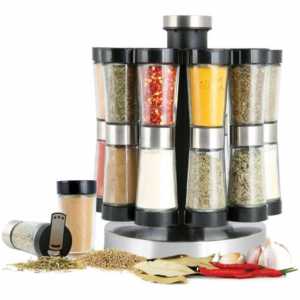 Orii Gourmet Revolving 20 Jar Spice Rack Accent Carousel Spinning Lazy Susan For $19.98 At Ebay.com