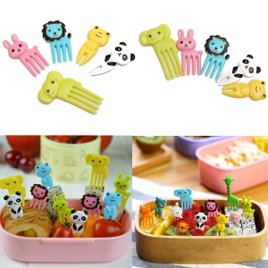 10pcs Bento Kawaii Animal Food Fruit Picks Forks Lunch Box Accessory Just For $2.83 At Ebay.com