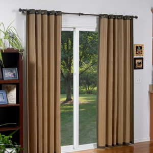 Buy Woven Wood Grommet Drapery For $142.99 At Blinds.com