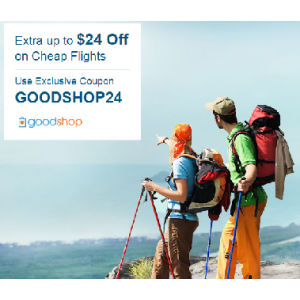 Goodshop Exclusive! Up to $24 OFF Flight Deals At CheapOair.com