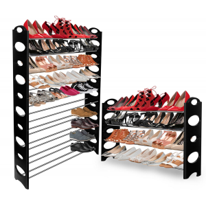 OxGord Shoe Rack for 50 Pair Wall Bench Shelf Closet Organizer Storage Box Stand For $17.99 At Ebay.com