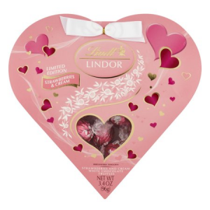 Lindt Valentine Lindor Milk and White Chocolate Heart Truffles Gift Box Candy For  $12.99 At Walmart.com