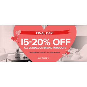 Final Day : Get Up to 15-20% Off on Blinds.com Product