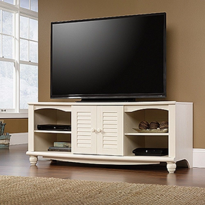 Sauder 403679 Harbor View Entertainment Credenza Antiqued White Finish For $198.57 At Ebay.com