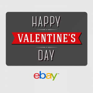 eBay Digital Gift Card Happy Valentine's Day Fast Email Delivery For $25