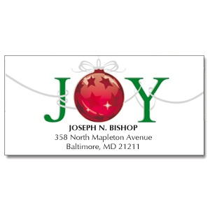 Order Now Joy Holiday Address Labels Just For $4.95 At CurrentLabels.com
