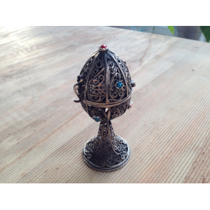 Antique Imperial Russian Silver 84 RUSSIAN FILIGREE EGG For $31 At Ebay.com