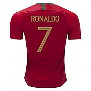 Get Soccer Team Portugal C Ronaldo 7 Home Men's Jersey Color Red $55.99 At Amazon.com