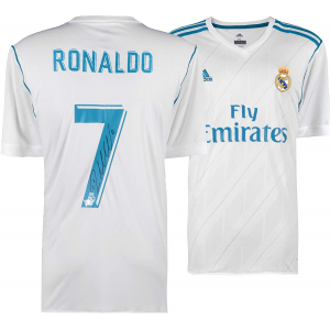 Buy Cristiano Ronaldo Real Madrid C.F. Autographed 2017-2018 Jersey $699.99 At Amzon.com