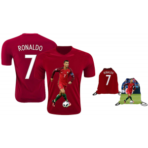 Ronaldo Jersey Style T-shirt Kids Cristiano Ronaldo Jersey Portugal T-shirt $12.99 At Amazon.com