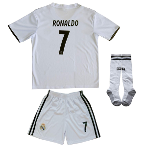 2018/2019 REAL MADRID #7 RONALDO KIDS HOME SOCCER JERSEY & SHORTS YOUTH $24.89  At Amazon.com