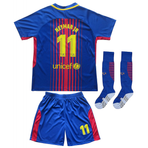 Youth Sportswear Barcelona Neymar 11 Kids Home Soccer Jersey/Shorts Socks Set $15.99  At Amazon.com