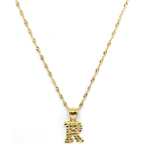 Buy  R INITIAL CHAIN ALPHABET PENDANT 18 NECKLACE $15 At Amazon