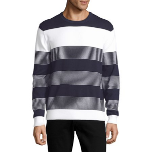 Black Brown 1826 Striped Ribbed Sweater $23.60 At Walmart