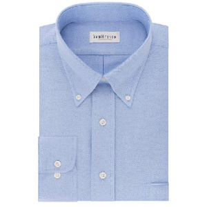 Van Heusen Mens Dress Shirts Regular Fit Oxford Solid Button Down Collar $18.92 At Amazon