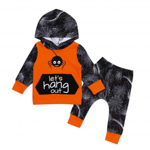 Baby Sweatshirt Hoodied for Boys Girls, Iuhan 2Pcs Infant Baby Girls Boys Spider Hoodie Tops+Pants Halloween Clothes Set (18Months, Orange) $3.99  At Amazon