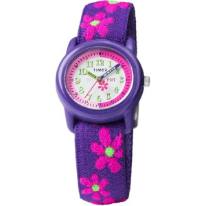 Timex Girls Time Machines Purple Floral Watch, Elastic Fabric Strap $18.59 At Walmart