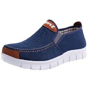 Fashion Men Soft Sole Flat Heel Canvas Casual Cloth Shoes $6.56  At Amazon