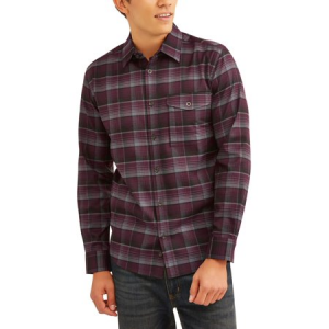 Men's Long Sleeve Poly Flannel $18.44 At Walmart